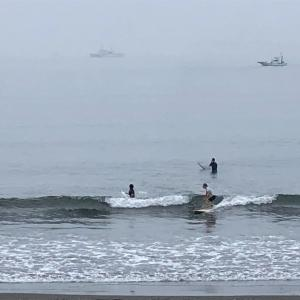 ロングで何とかサーフィン楽しめてます。波情報 湘南鵠沼08/20