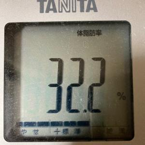 体脂肪率30%→25%!現在体脂肪率32.2%