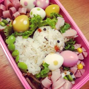 【キャラ弁】イースター☆カラフル卵のお弁当