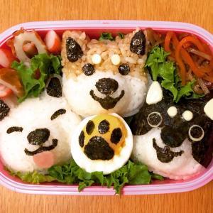 【キャラ弁】柴犬トリオのお弁当