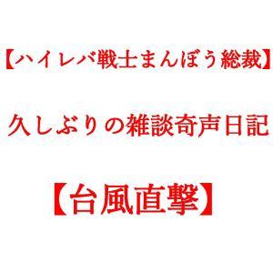 【ハイレバ戦士まんぼう総裁】久しぶりの雑談奇声日記【台風直撃】