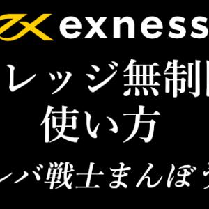【海外FX】Exness(エクスネス)のレバレッジ無制限の使い方