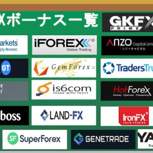 【海外FX】入金ボーナスを一覧にしました!【最新20社以上】