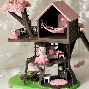にぎやかツリーハウスから、桜ツリーハウスに・Dollsdujardinさんのリペイント作品