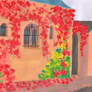【模写】秋のフランスの村