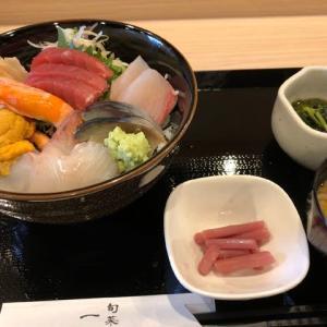 ランチは海鮮丼「旬菜一颯」