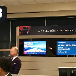 デルタ航空アメリカ国内線乗り継ぎ ミネアポリスからロサンゼルスへ
