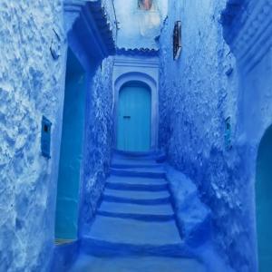 モロッコ シャウエン① リアルに青の世界に迷い込む (HISツアー8日間)