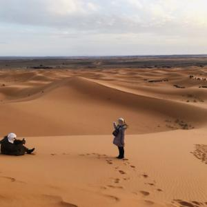 モロッコ サハラ砂漠 ラクダに乗って 隊商気分(HISツアー8日間)
