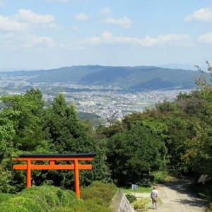 明神山を歩く 「水神社」「恋人の聖地」「あべのハルカス」「堺の古墳群」「若草山」「東大寺」を見る。 (5景)