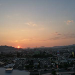 夕焼け、結構綺麗だったんですよね…ただ、ちょっとしたびっくりが