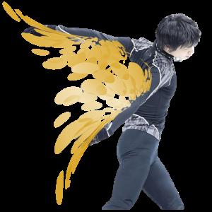 結弦君の秘密の翼 Yuzu with his secret wings