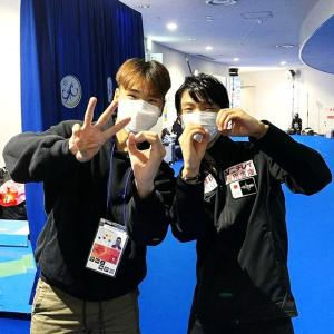 こそっと結弦君とナム君・・ Yuzu & Num