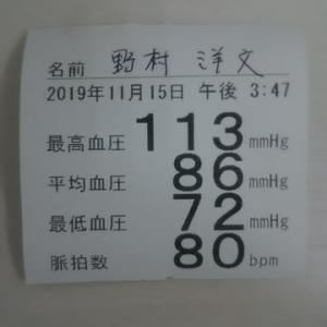 久しぶりの血圧測定
