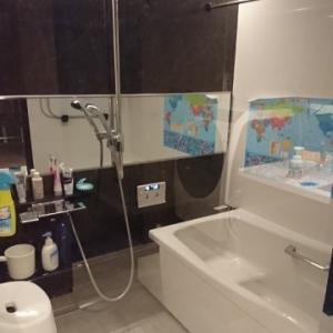 リノベ後 お風呂場 壁掛けで清潔に