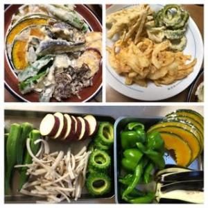 昨日の晩御飯は 天ぷらでした