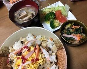 1日遅れのちらし寿司~