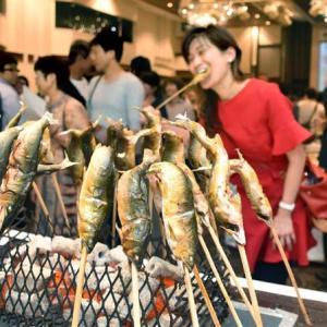 清流めぐり利き鮎会  アユ食べ比べ、日本一は岐阜の和良川