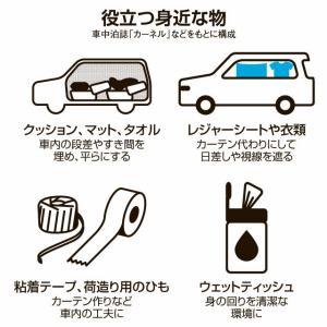 災害時の避難…新型コロナで「車中泊」も選択肢に
