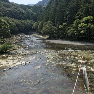 鮎釣り日和〜♪古座川支流の小川〜