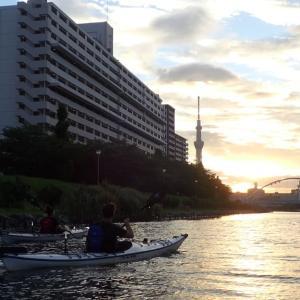 東京水路ナイトパドリング