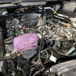 ディーゼルエンジンオイル漏れ修理