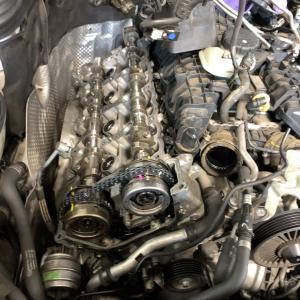 W212エンジン警告灯の修理