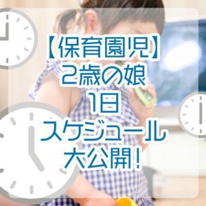 【保育園児】2歳の娘1日スケジュール大公開!