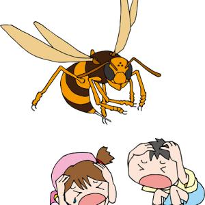 昔は蜂に良く刺されました。