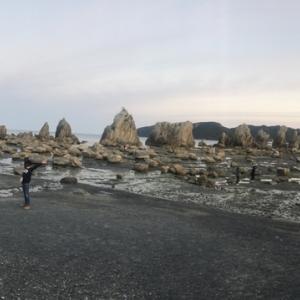 お正月3日目にドライブでエビとカニの水族館と橋杭岩。
