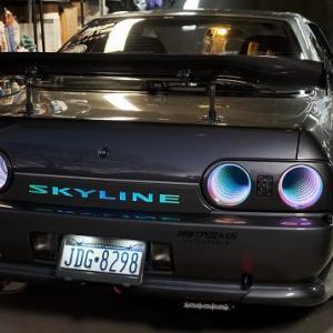 日産R32のテールライトを無限に変化させる光の魔術師スカイライン
