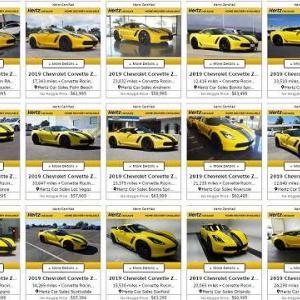 【コルベットオーナー顔面ブルーレイ】レンタカー会社「ハーツ」が借金返済の為大量のコルベットを出品