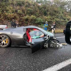 【くっそ迷惑】中国道でま~たフェラーリがイキって事故。大渋滞を発生させる