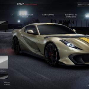 フェラーリ812コンペティツィオーネのオンラインカーコンフィギュター公開