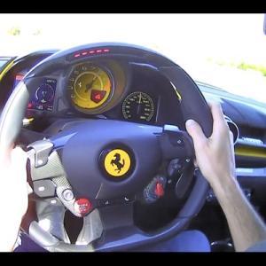 【見えないだろこれ】フェラーリ812コンペティツィオーネ、後ろ塞いでるのにバックミラーを採用