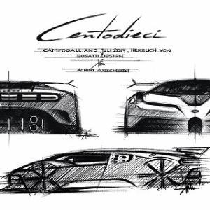 【F16戦闘機の方が安いんだぜ?】改めて公開されたブガッティ チェントディエチのデザインスケッチ