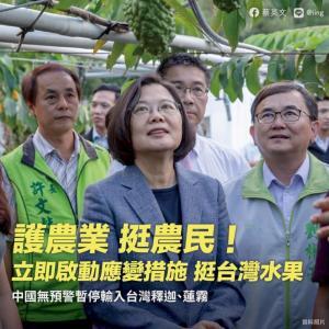 中国、台湾産の果物2種類を輸入停止 パイナップルに続き政治圧力か