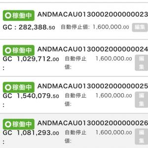6月11日〜12日 -177,251円 バカラオートシステム収益