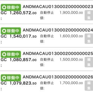 8月8日〜8月14日 +64,937円 バカラオートシステム収益