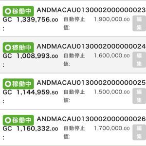 8月15日〜8月21日 +60,607円 バカラオートシステム収益