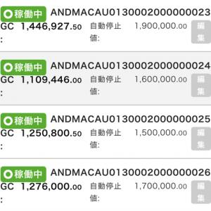 8月29日〜9月4日 +52,259円 バカラオートシステム収益