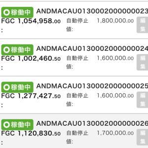 11月1日〜11月6日 +49,325円 バカラオートシステム収益