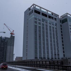 雪が降る前に 【ともえ大橋で】