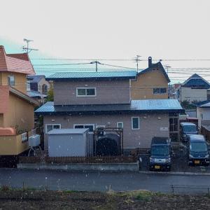 今朝 雪が降った 【緑の島周辺】