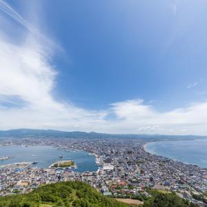 少〜し ほんの少〜し観光客が来ている 【函館山山頂】