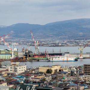 函館市船見町付近から