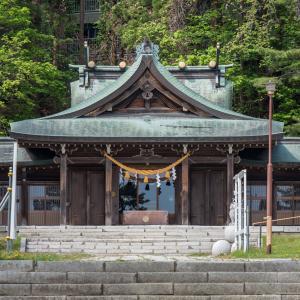 護国神社と配水場