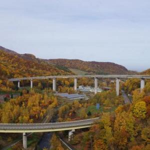 紅葉の朝里ダム、紅葉の定山渓ダム
