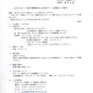 日刊スポーツ秋季朝野球大会2020 参加チーム募集