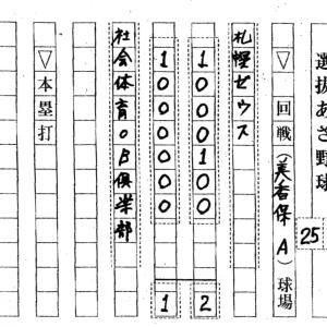第50回・選抜あさ野球大会 7/16-7/25分結果